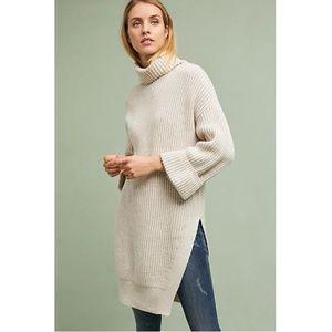 {Anthropologie} Moth Oversized Cuff Sleeve Sweater